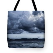 Blue Morning Taal Volcano Philippines Tote Bag