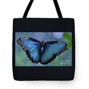 Blue Morpho Butterfly Portrait Tote Bag