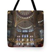 Blue Mosque Interior Tote Bag