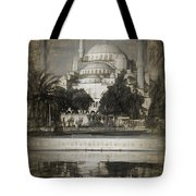Blue Mosque - Sketch Tote Bag