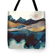 Blue Mountain Reflection Tote Bag