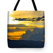Blue Mountain Sunset Tote Bag