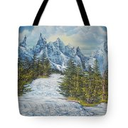 Blue Mountain Torrent Tote Bag
