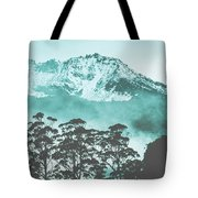 Blue Mountain Winter Landscape Tote Bag