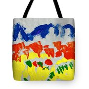 Blue Mountains Even Lemons Limes Oranges And Strawberries Tote Bag