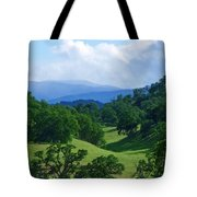Blue Mountains Green Pastures Tote Bag