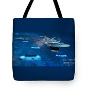 Blue Nebula Expanse Tote Bag by Corey Ford