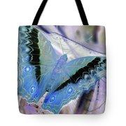 Blue Negative Tote Bag