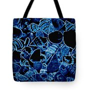Blue Neon Shells Tote Bag
