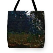 Blue Night In The Field Tote Bag