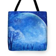 Blue Night Moon Tote Bag by Ashleigh Dyan Bayer