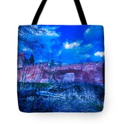 Blue Night Over Teutonic Castle Tote Bag