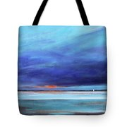 Blue Night Sail Tote Bag by Toni Grote