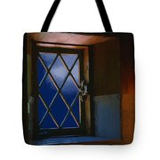 Blue Night Through Casement Tote Bag