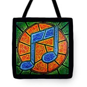 Blue Note On Red Tote Bag