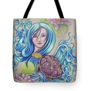 Blue Nova Tote Bag