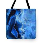 Blue Nude Tote Bag