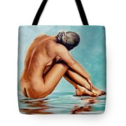 Blue Nude Tote Bag