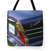 Blue Old Car Tote Bag