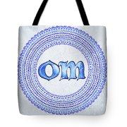 Blue Om Mandala Tote Bag