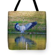Blue On The Bank Tote Bag