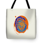 Blue Orange Abstract Art Tote Bag