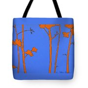 Blue Orange Tree Tote Bag