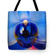 Blue Orchid Heart Tote Bag