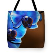 Blue Orchids Tote Bag