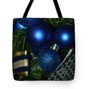 Blue Ornament Tote Bag