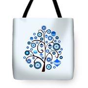 Blue Ornaments Tote Bag