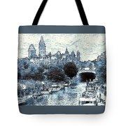Blue Ottawa Skyline - Water Color Tote Bag