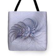 Blue Pagliai Ferns Tote Bag