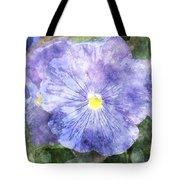 Blue Pansies Tote Bag