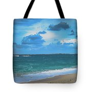 Blue Paradise, Scenic Ocean View From The Bahamas Tote Bag