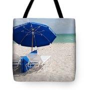 Blue Paradise Umbrella Tote Bag