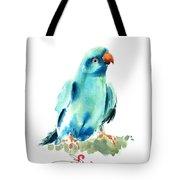 Blue Parrot Bird Tote Bag