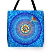 Blue Parrot Mandala Tote Bag