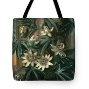 Blue Passion Flower For The  Temple Of Flora By Robert Thornton Tote Bag