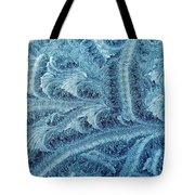 Extraordinary Hoarfrost Scallop Patterns In Blue Tote Bag