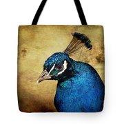 Blue Peacock Tote Bag