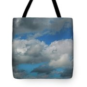 Blue Perfect Sky Sea Of Clouds From High Altitude Space Tote Bag
