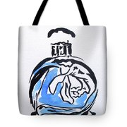 Blue Perfume Bottle Tote Bag