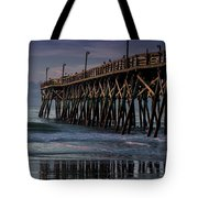 Blue Pier Tote Bag