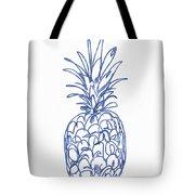 Blue Pineapple- Art By Linda Woods Tote Bag by Linda Woods