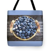 Blue Plums Tote Bag