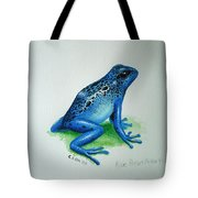 Blue Poison Arrow Frog Tote Bag