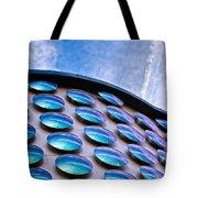 Blue Polka-dot Wave Tote Bag