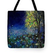 Blue Poppies And Diasies 67 Tote Bag