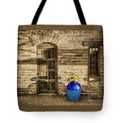 Blue Pot, Tubac, Arizona Tote Bag